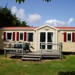 Mobil home au camping