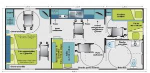 Plan en détail du mobil home hélios