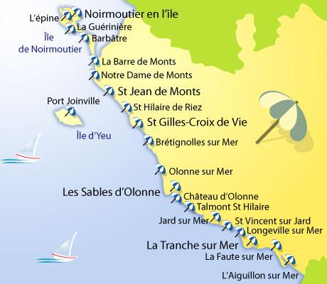 Les plages de vend e - Distance en milles nautiques entre 2 ports ...